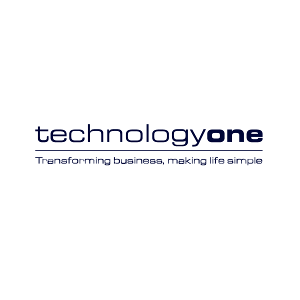 TechnologyOne White Logo with Tagline